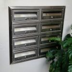 MCH No. 2 Stainless Steel Letterbox bank